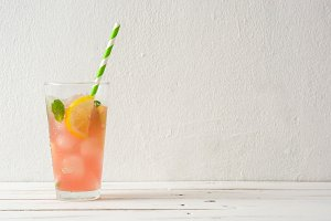 Fresh watermelon mojito