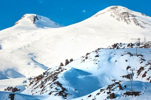 Two peaks of Elbrus mountain