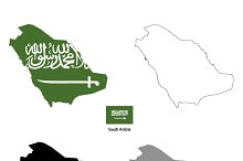 Saudi Arabia country silhouettes