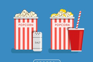 Popcorn food illustration