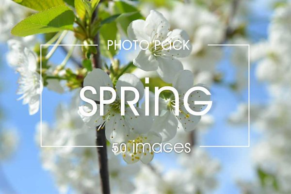 50 spring  images - photo pack