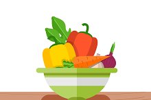 Vegetables for mixing salad