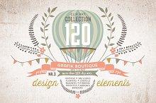 Design elements.  120 clip arts!
