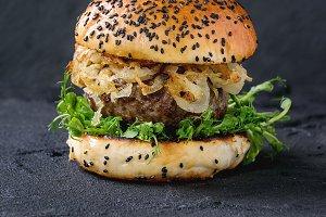 Hamburger with beef