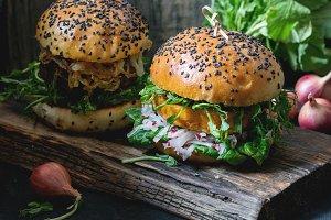 veggie burgers with sweet potato