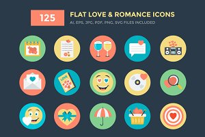 125 Love and Romance Vector Icons