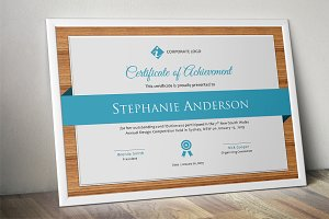 Wood certificate Word template