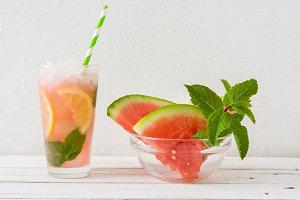 Fresh watermelon mojito