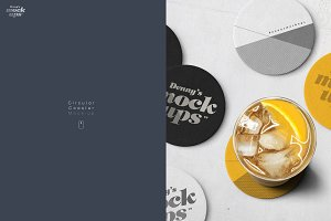 Circular Coaster Mockup