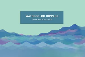 Watercolor Ripples Web Background