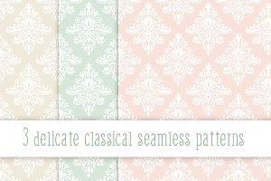 Delicate classical seamless patterns