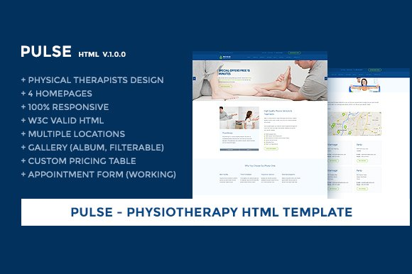 Physiotherapy Responsive Template ~ Website Templates ~ Creative Market
