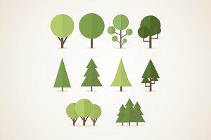 Flat trees