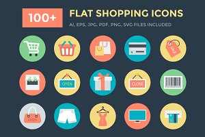 100+ Flat Shopping Icons