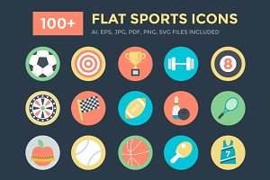 100+ Flat Sports Icons