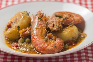 prawn soup with potatoes