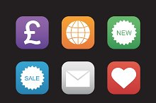 Web store icons. Vector