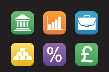 Finance and banking icons. Vector