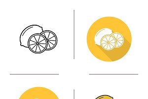 Lemon icons. Vector