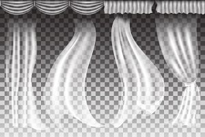 Curtains on transparent background