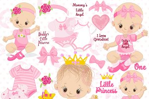 Baby Girl Clipart, AMB-1293
