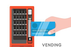 Card pay vending machine