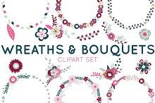 Wreath Clipart & Bouquet Clipart