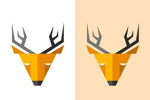 Vector deer logo