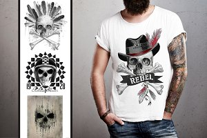 SKULL GRAPHICS - skull print