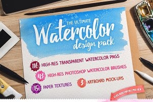 The Ultimate Watercolor Design Pack