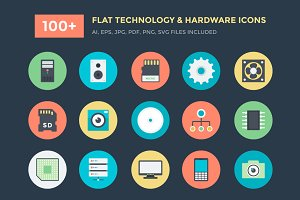 100+ Technology and Hardware Icons