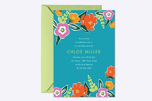 Bright Blooms Invite Template