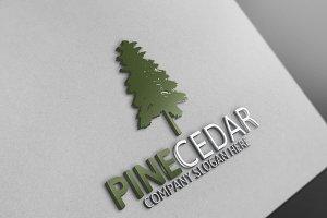 Pine Cedar Tree Logo 10 % discount