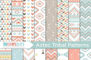 Tribal, Boho Digital Patterns (1)