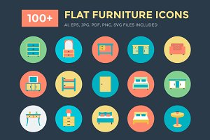 100+ Flat Furniture Icons