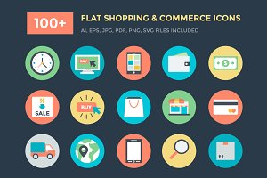100+ Shopping and Commerce Icons