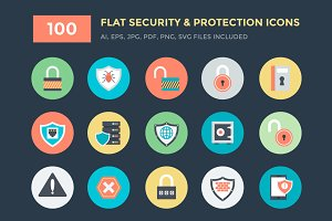 100 Security and Protection Icons