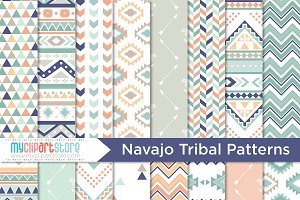Tribal Navajo Digital Patterns