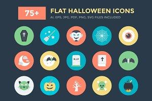 75+ Flat Halloween Icons