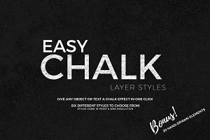 Easy Chalk Layer Styles