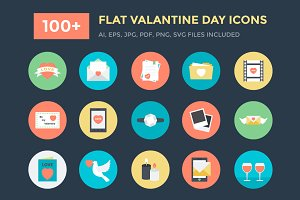 100+ Flat Valentine Day Icons