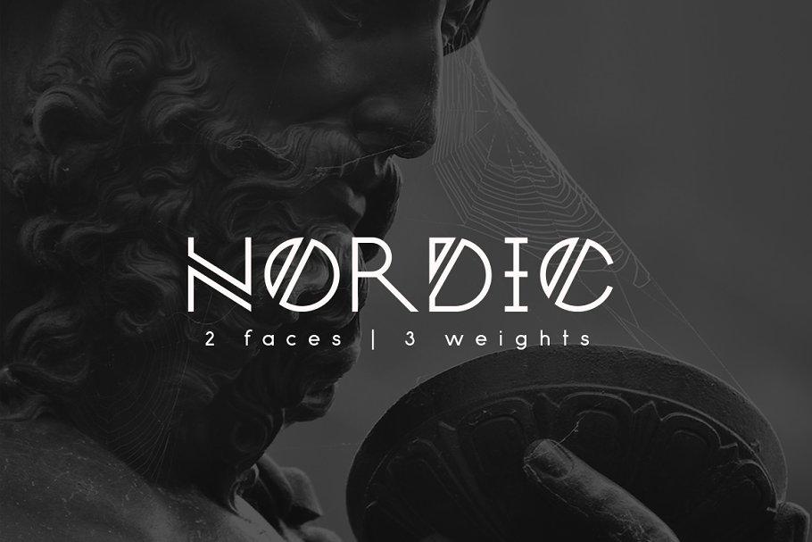 tipografía Nordic para logos modernos