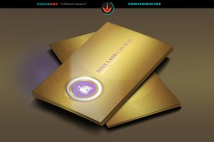 Gold Church Business Card Template