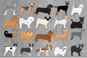 Toy Dog Clip Art Illustration Bundle