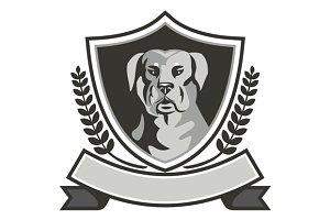 Rottweiler Head Laurel Leaves Cres