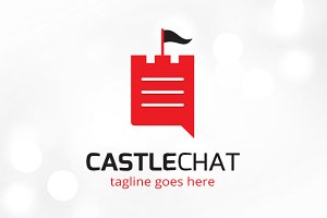 Castle Chat Logo Template