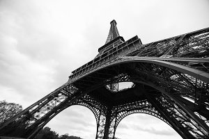 The Eiffel Tower in Paris,