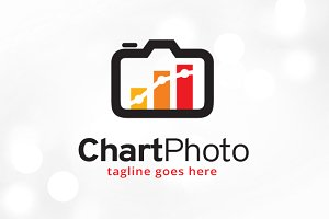 Chart Photo Logo Template