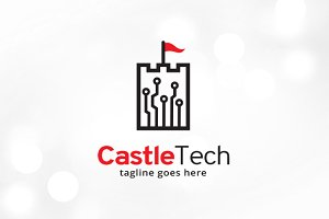 Castle Technology Logo Template