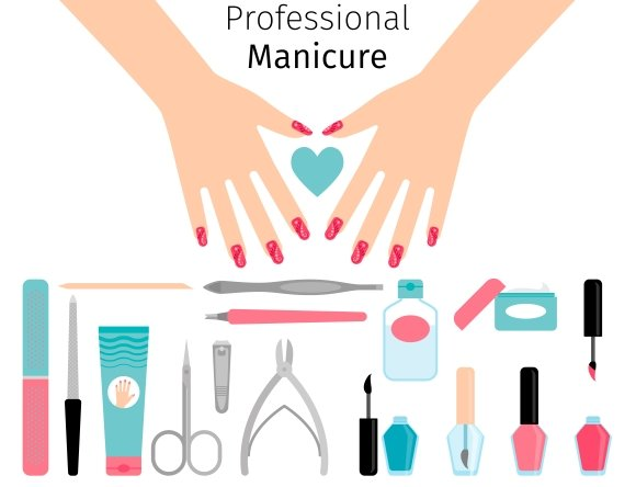 Professional manicure poster
